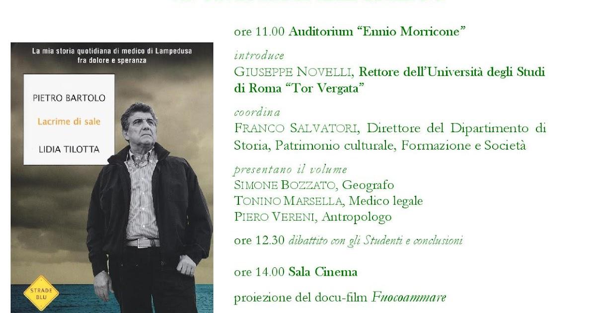 Pietro Bartolo a Tor Vergata