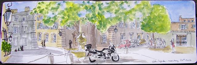place des 4 Dauphins Aix en Provence
