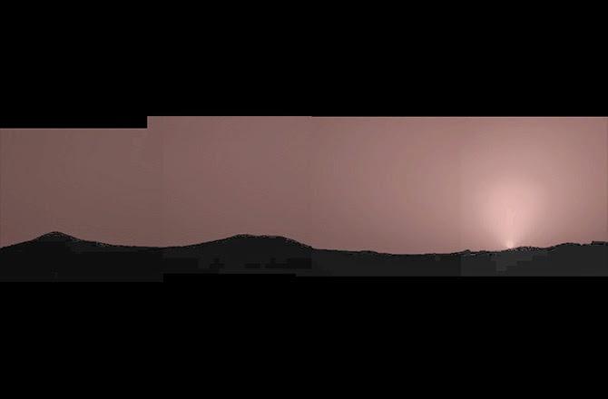 por do sol em Marte - Pathfinder - julho de 1997