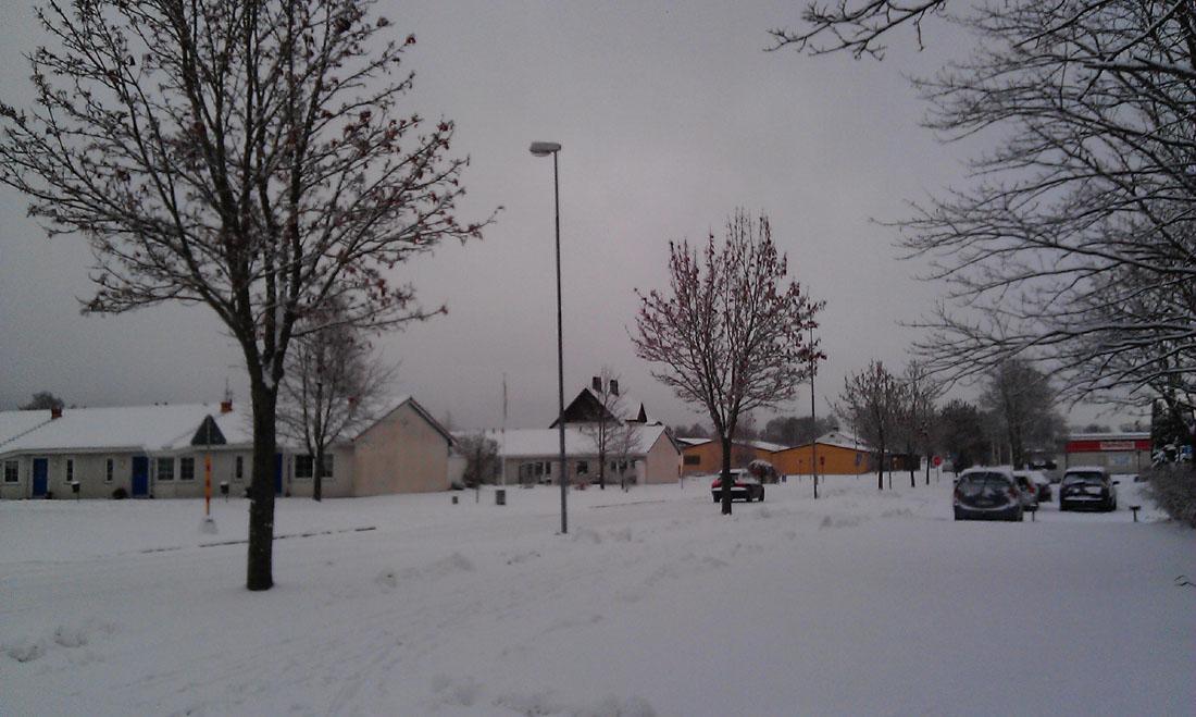 Tollarp coperta dalla neve