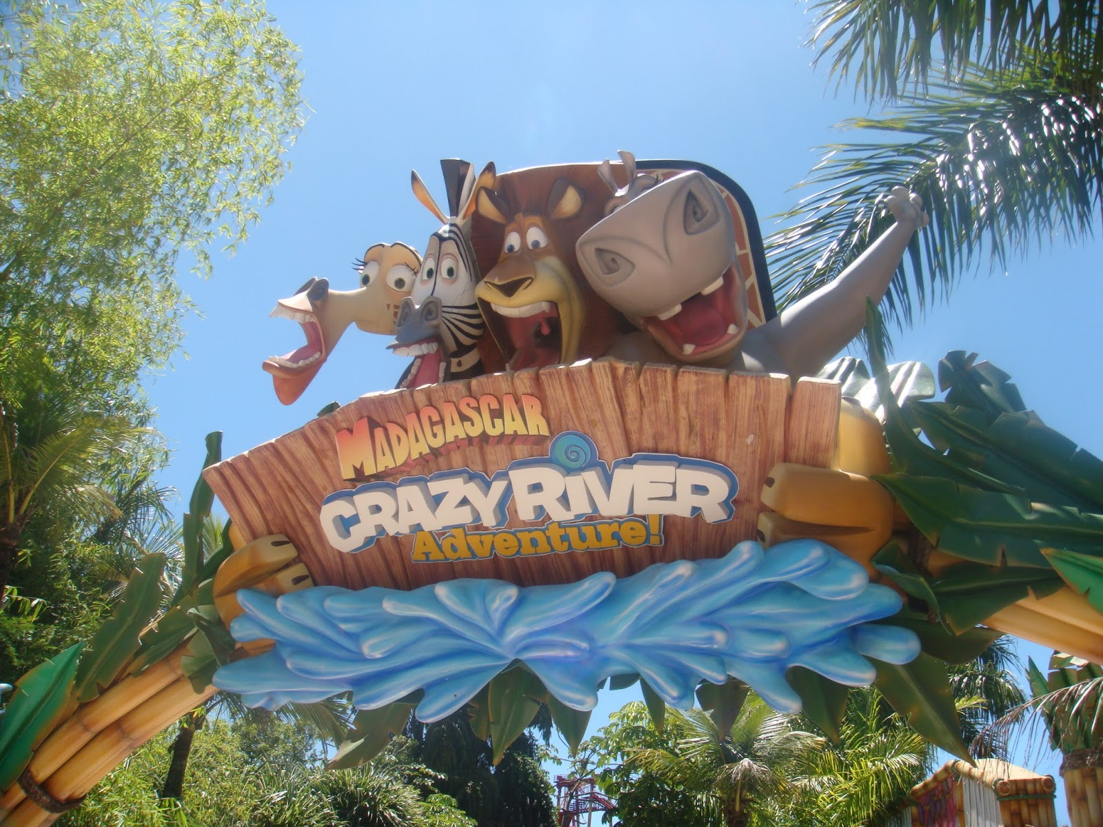 Totem do Madagascar no Beto Carrero World