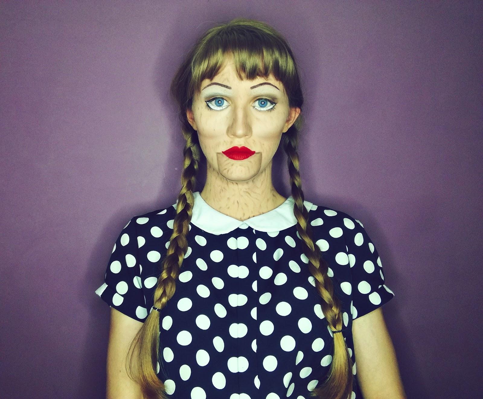 Angelika Niedźwiedzka Beauty Blog Lalka Halloween Makeup