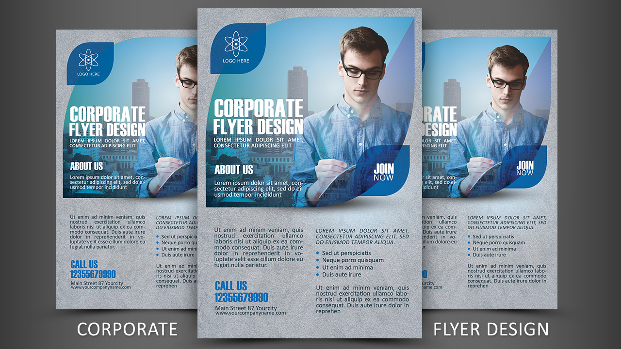 Print Design - Corporate Flyer Photoshop Tutorial