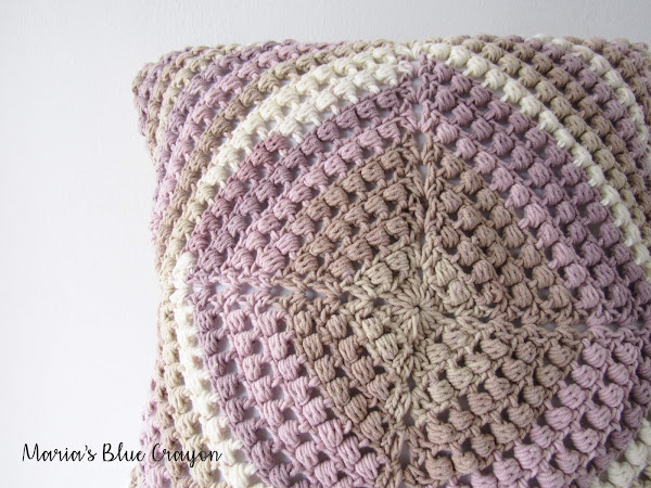 Stained Glass Pillow Cover - Free Granny Square Crochet Pattern