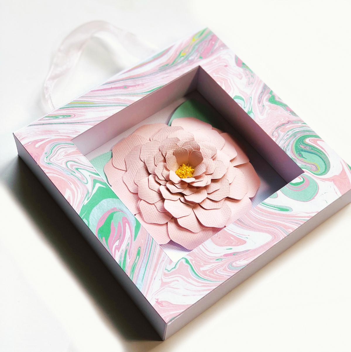 Michelle Zerull Paper Flower Shadow Box Tutorial
