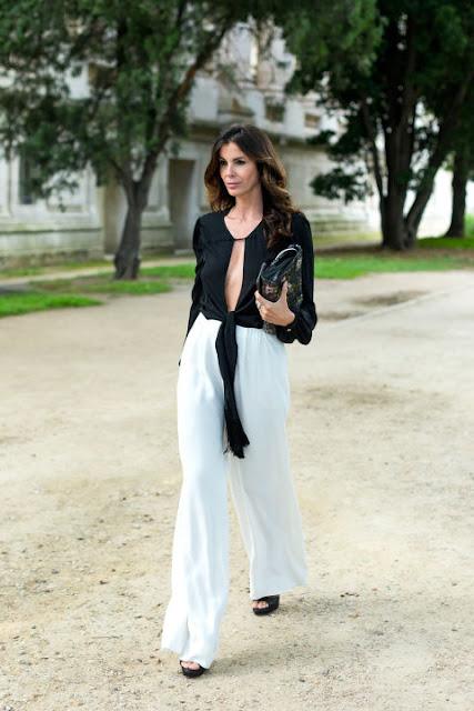 Fashion Week in Paris: Black and White