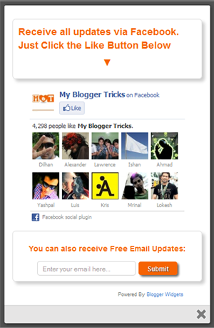 jquery facebook popup box