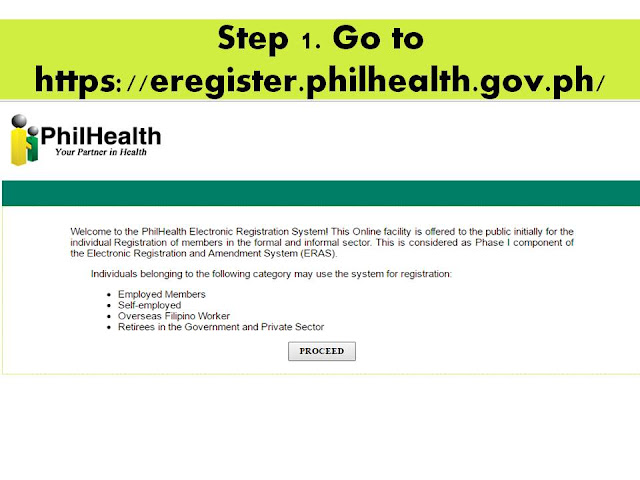 Step 1 visit the website of PhilHEalth
