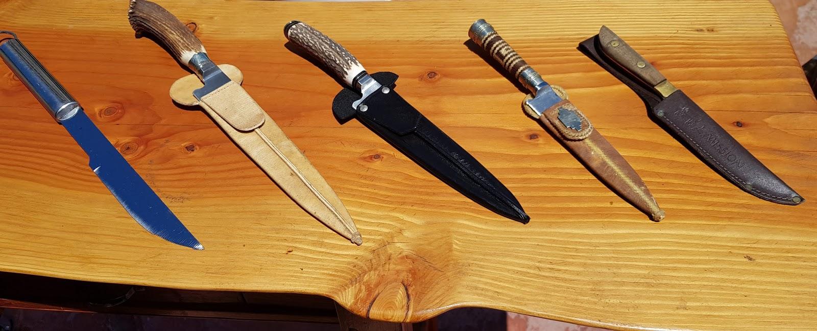 Cuchillos para una parrilla argentina