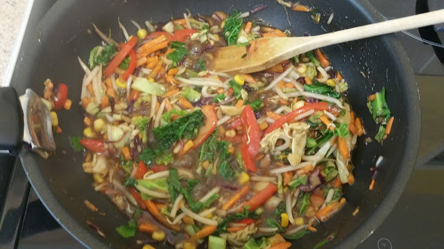 Stir fry veg with hoisin sauce www.fire2feast.com