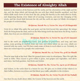 The Existence of Almighty Allah