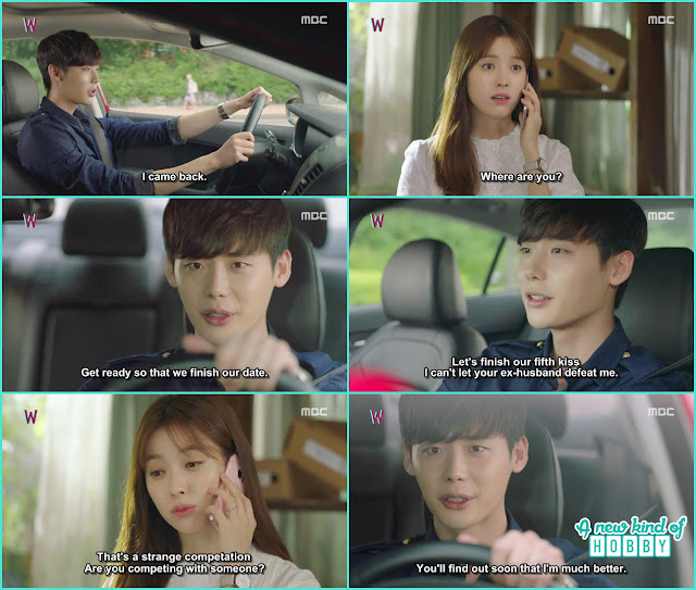 kang chul call yeon jo and ask her to complete their remaining date & kiss - W - Episode 12 Review
