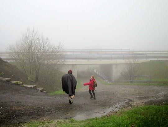 Przed przejściem pod europejską drogą E75.