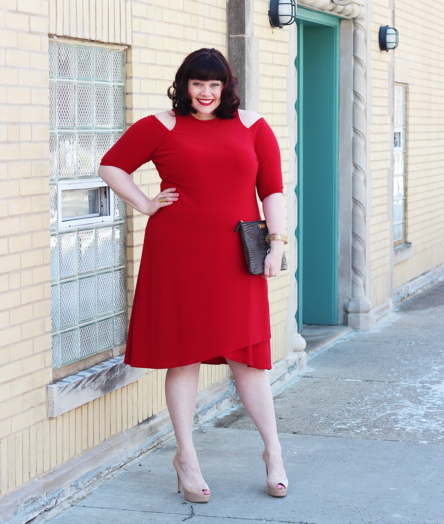 Plus Size Blogger in Red Dress