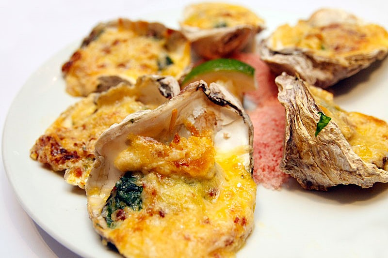 House of Wagyu Stone Grill Greenhills Oyster Rockefeller