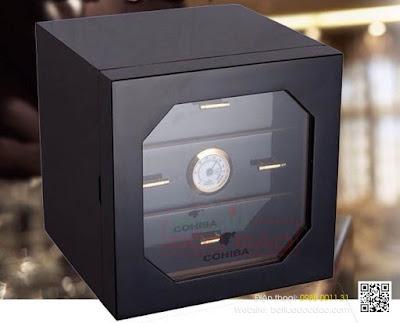 Giá hộp bảo quản giữ ẩm xì gà 3 tầng Cohiba H007?