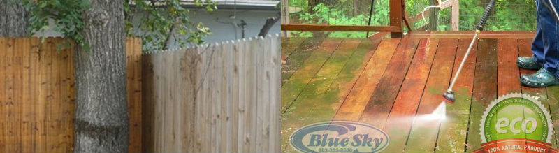 Pressure Wash Wooden Fences & Decks