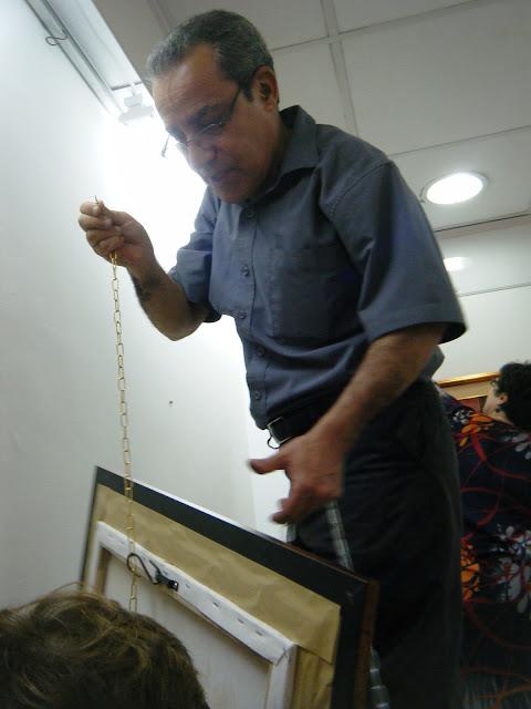 Préparatifs de l'expo de l'atelier artémisia 18