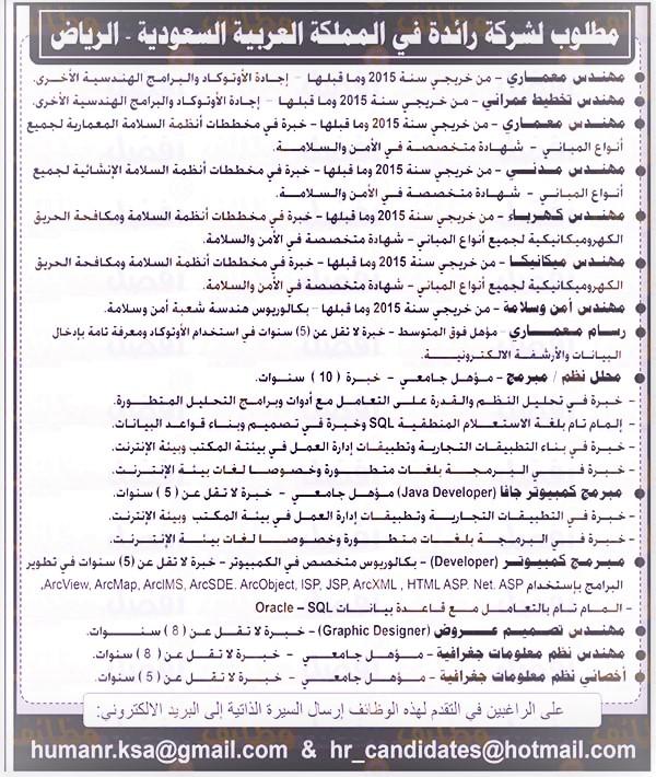 وظائف الاهرام الجمعه 31 يناير 2020