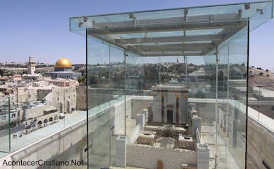 Réplica del Tercer Templo cerca a mezquita de al-Aqsa