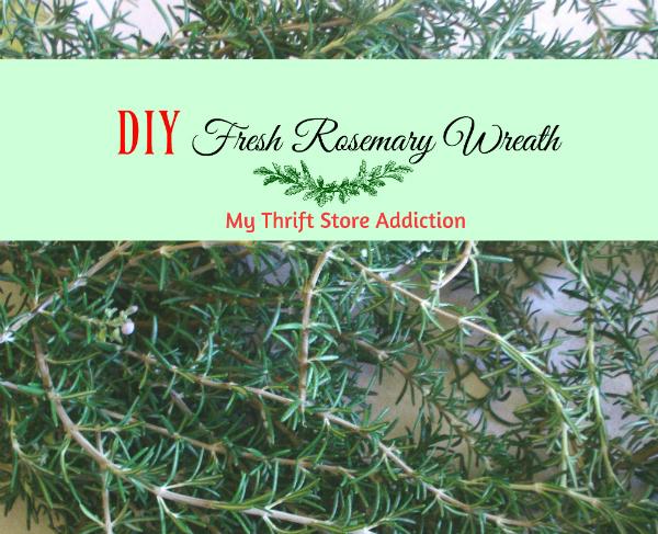 Fresh rosemary wreath tutorial