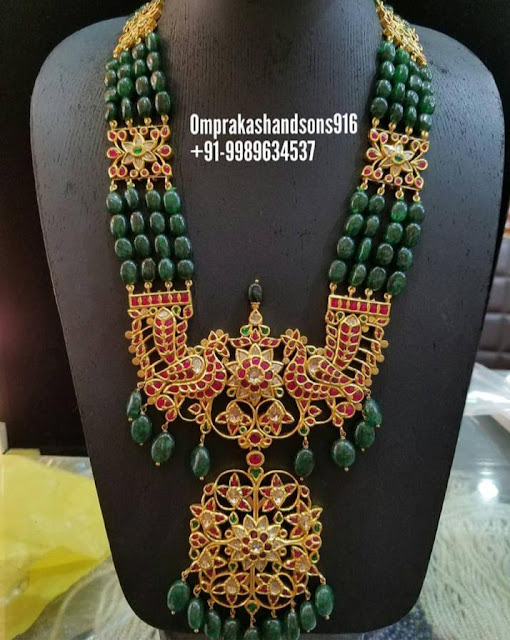 Emerald Drops Sets by Omprakash Jewellers