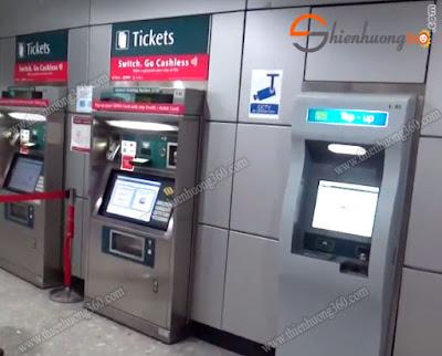 Máy bán vé tự động General Ticketing Machine Singapore (GTM)