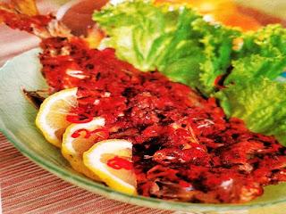 Gambar Resep Ikan kuwe Bakar Bumbu Tomat