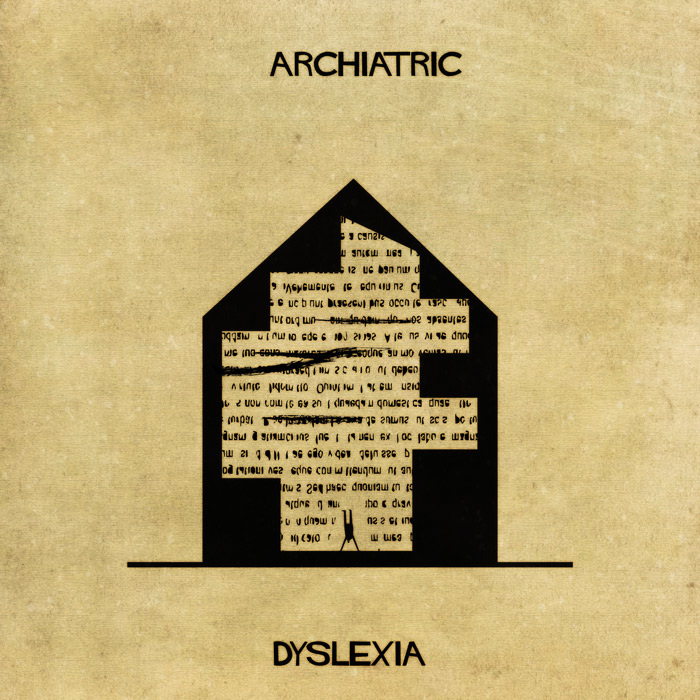 16 Mental Disorders Illustrated Through Architecture - Dyslexia