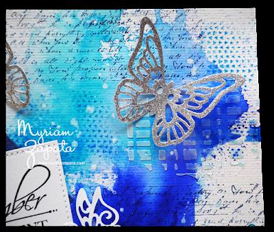 composición mixed media: mariposas por Myriam Zapata