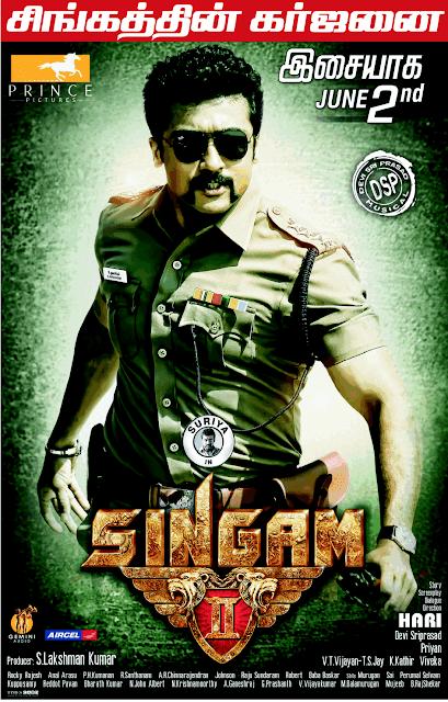 Singam 2 2013 Hindi Dubbed Dual Audio BRRip 720p 990mb
