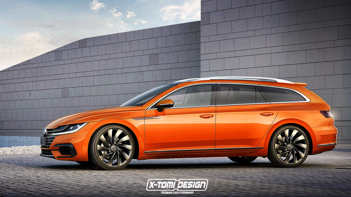 new vw arteon might actually get a stylish wagon version carscoops. Black Bedroom Furniture Sets. Home Design Ideas