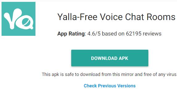 تحميل تطبيق يلا شات لهواتف الاندرويد اخر اصدار Download Yalla
