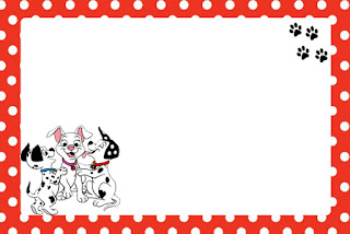 101 Dalmatians in Red and Black Free Printable Invitations Oh My