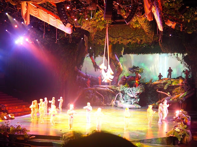Tarzan Call of the Jungle acrobatics show in Shanghai Disneyland, China