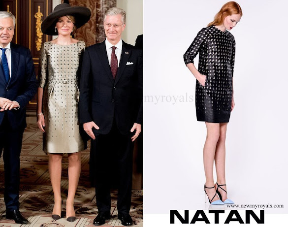 Queen Mathilde wore Natan Dress FW16 collection
