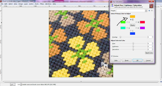 Screenshot showing how to edit the individual colour values in GIMP