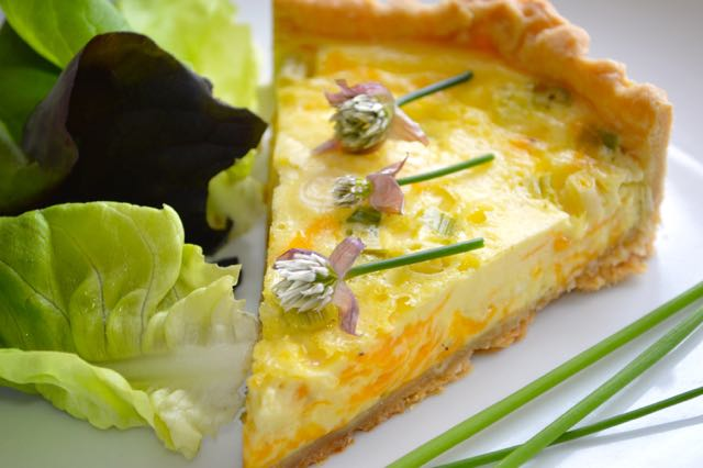 Cheese and Spring Onion Quiche