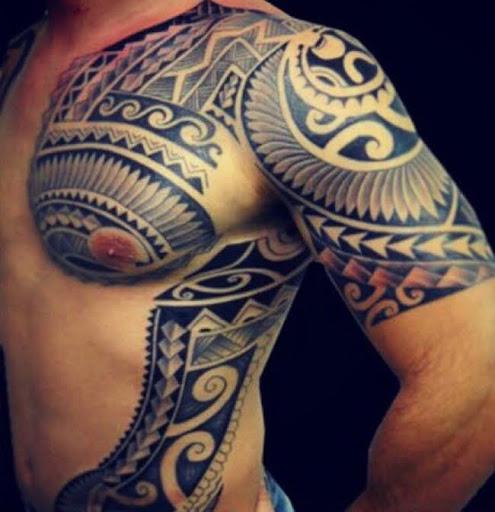 Este polinésia guerreiro tatuagem