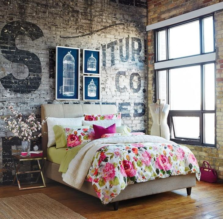 warehouse loft apartment bedroom