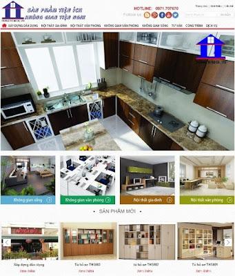 Thiết kế website xây dựng - công trình kinh doanh nội thất online
