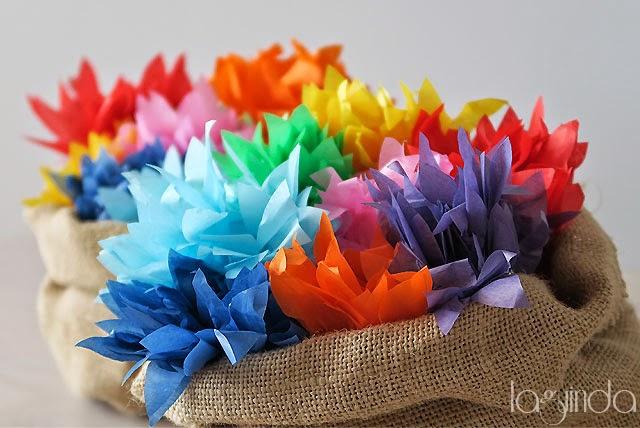 flores papel presentación arroz boda