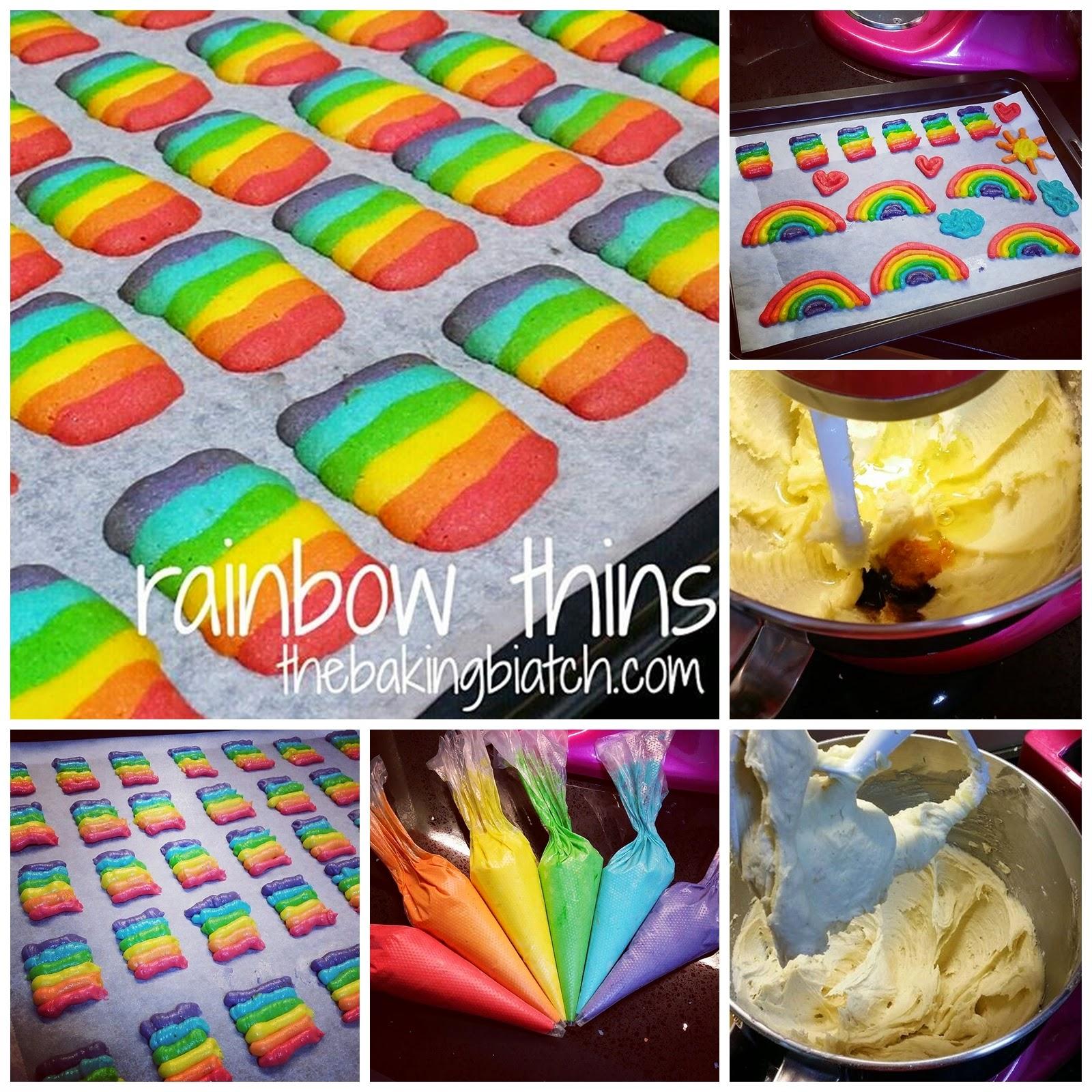 Rainbow Thins Cats Tongue Cookies