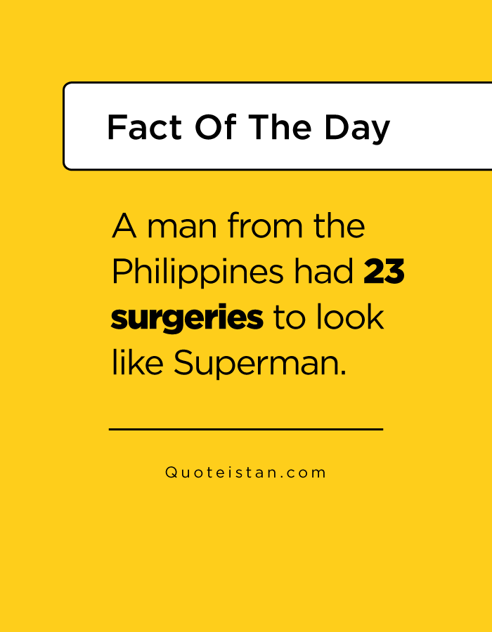 A man from the Philippines had 23 surgeries to look like Superman.