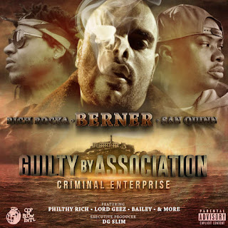 Berner, Rich Rocka & San Quinn - Guilty By Association 2: Criminal Enterprise (2016) - Album Download, Itunes Cover, Official Cover, Album CD Cover Art, Tracklist