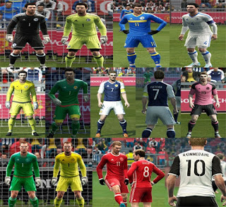 Kits: Bosnia and Herzegovina, Denmark, Scotland, pes 2013
