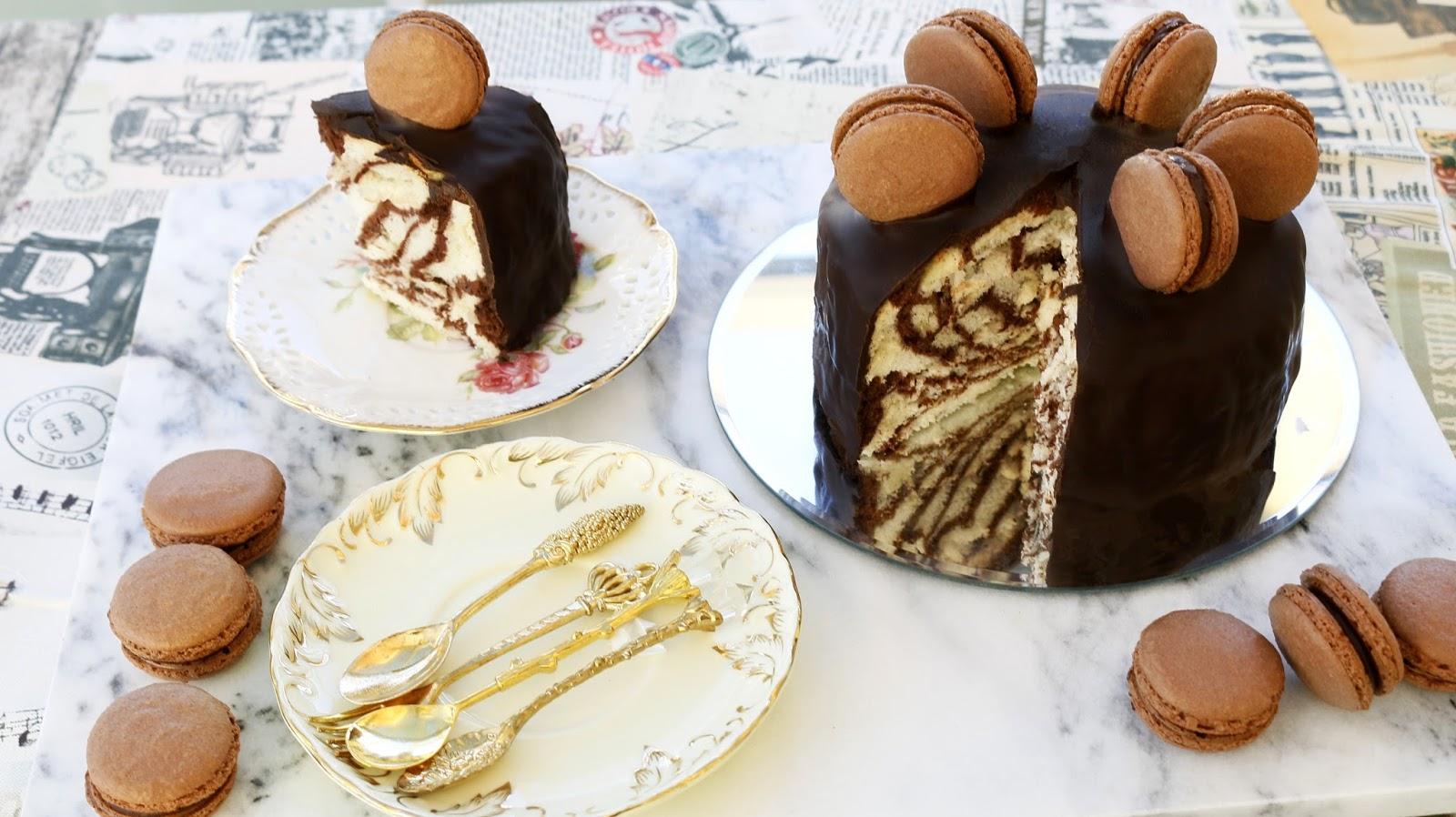 Josephines Recipes How To Make Zebra Stripe Ogura Sponge Cake