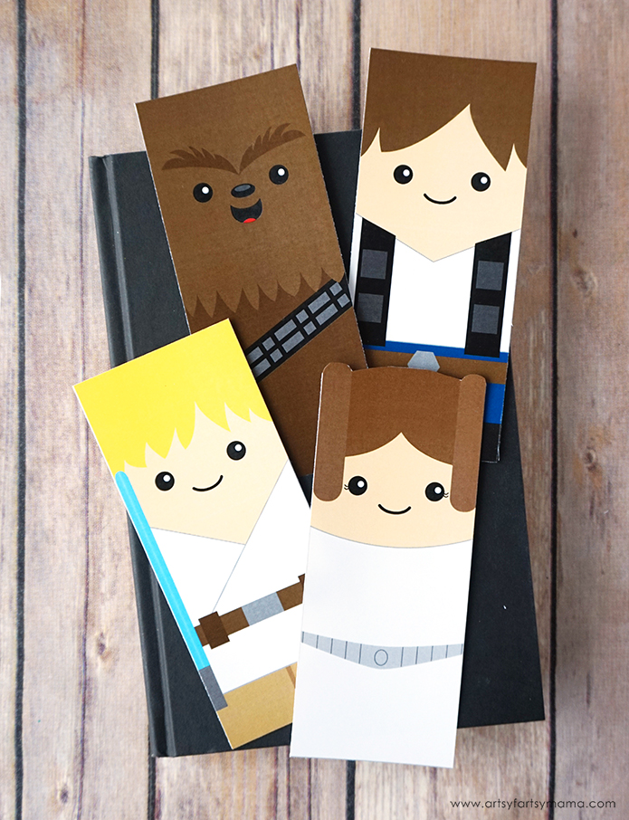 photo about Star Wars Bookmark Printable identified as No cost Printable Star Wars Bookmarks artsy-fartsy mama