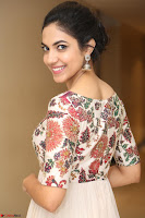 Ritu Varma smiling face Cream Anarkali dress at launch of OPPO New Selfie Camera F3 ~  Exclusive 079.JPG