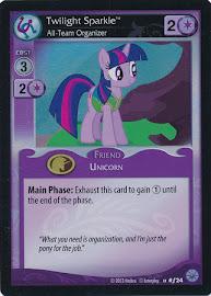 My Little Pony Twilight Sparkle, All-Team Organizer Premiere CCG Card